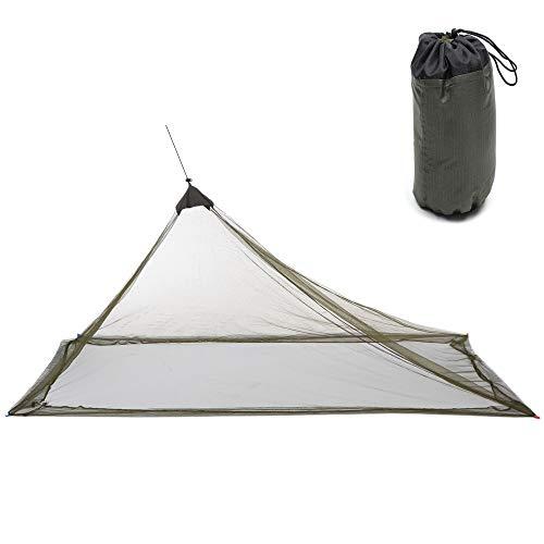 LULUVicky - Red de campaña para acampar al aire libre o al aire libre (tamaño: L; color: verde militar)