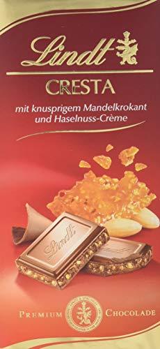 Lindt Cresta Premium Schokolade mit knusprigem Mandelkrokant und Praliné-Creme, 12er Pack (12 x 100 g)