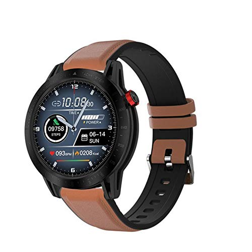 LDJ FT03 Smart Watch Sports, Schermo TFT da 1,3 Pollici BT Fitness Tracker Impermeabile Frequenza Cardiaca Blood Pressure Monitor Notifica per iOS Android,D