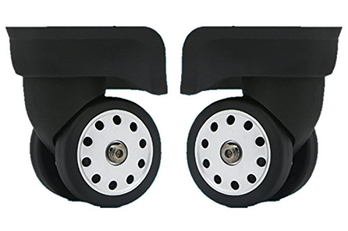 Liaozy888 Replacement Luggage Wheels W046# L Size (Di Long) Replacement Luggage Wheel/Wheels for suitcases (A Pair/Set)