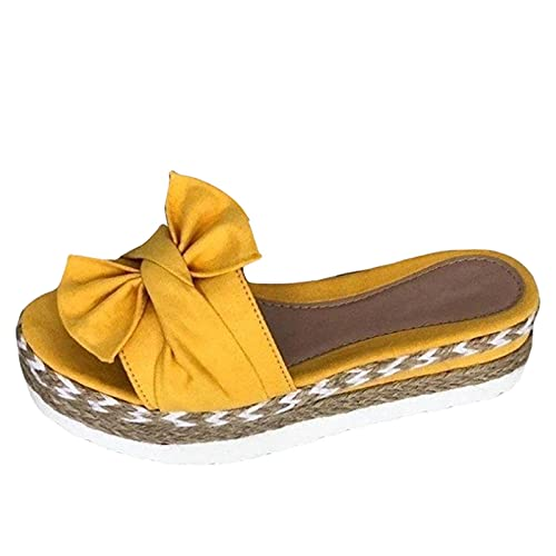 TLM Toys Sandalias de mujer de verano, sandalias planas para mujer, sandalias informales, sandalias de verano con cuña