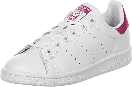adidas Unisex-Erwachsene Stan Smith J Fitnessschuhe, Weiß (FTWR White/FTWR White/Bold Pink), 40 EU