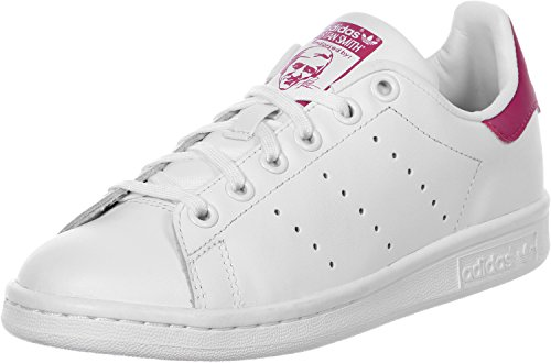 adidas Originals Stan Smith Baskets Fille, Blanc (Footwear White/Bold Pink)), 36 EU
