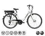 F.lli Schiano E- Moon Bicicleta eléctrica, Adultos Unisex, Blanca, 28'