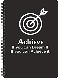Achieve If You Can Dream It Unruled Wiro Bound Notebooks : A5 Size : 160Page: 80 Sheets
