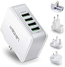 Multiple USB Wall Charger, [22W/4.4A] LENCENT 4 Port USB Travel Adapter, All in One USB Charger Plug with UK US EU European AUS Worldwide International Travel Phone Charger for iPhone, IPad & More