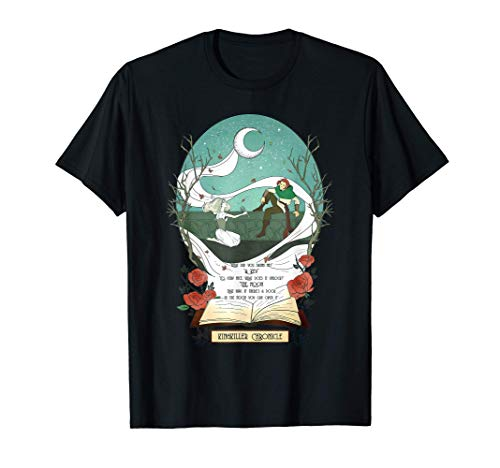 Fantasy Kingkiller Chronicle Auri and Kvothe Moon Key Quote T-Shirt