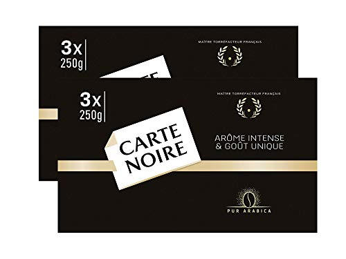 Coffee Carte Noire Authentic Imported French Gourmet Coffee 250 g (8.8 oz), Six