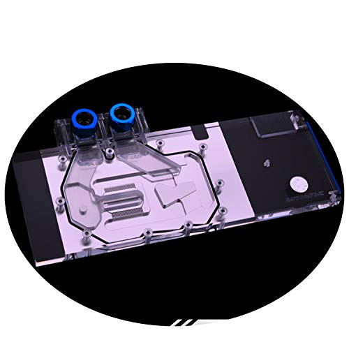 GPU Copper Water Cooling Block G1/4 Threads Full Cover Waterblock Water Block for Graphic Card AMD Radeon Vega Frontier Edition Sapphire RX Vega HBM2 5V 3PIN RGB RBW LED Remote Control Fittings