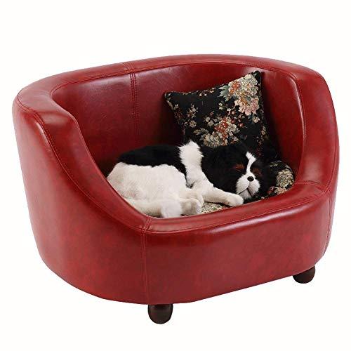 GBY Hundebett, Haustier Nest Katze Zwinger Hundesofa, Vier Jahreszeiten Universal komfortable Haustier Teddy Hund hochwertige PU-Ledersofa, Zwingermatte, geeignet für große, mittlere und kleine Hu