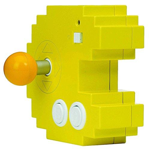 Bandai– Pac-Man– Gelbe Spielkonsole Connect & Play (12 integrierte Retro-Arcade-Spiele)– 38886