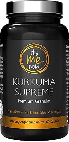itsme.now® Kurkuma Kapseln - Natürliches 500mg Extrakt - Curcuma Kapseln mit Bockshornklee und Mangan - ohne Zusätze - vegan - laborgeprüft - Kurkumin in Granulat-Form
