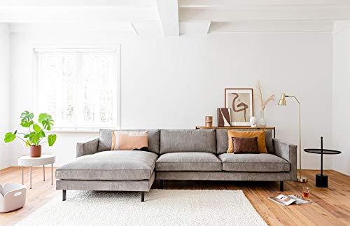 By SIDDE hoekbank Mads 5 jaar garantie op vlekken en retourrecht - Scandinavisch design Cord 802 Warm Grey