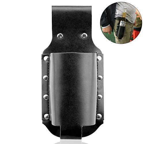 HO2NLE Fondina Porta Birra Bottiglia in Pelle Regolabile da Cintura Porta Birra Cintura Regolabile per Barbecue Giardinaggio Oktoberfest 0,5 Litri (o 6,6cm di Diametro) Marrone