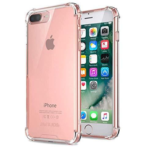 """Coque iPhone 7 Plus, Coque iPhone 8 plus, Jenuos Transparent Doux Souple Extrêmement Fin Housse TPU Silicone Etui pour iPhone 7/ 8 Plus 5.5""""- Transparent(7P-TPU-CL)"""