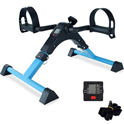 ZIRANYU Pedal Exerciser, Under Desk Bike Pedal Exerciser, Desk Pedal Exerciser Elliptical Machines for Home Use ZP01 (BLUE-2021)