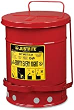 Wholesale CASE of 2 - R3 Safety Justrite 21-Gallon Oily Waste Can-Oily Waste Can, Foot-Operated Cover, 21 Gallon, Red