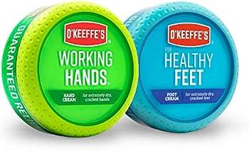 O'Keeffe's Working Hands 3.4 Oz & Healthy Feet 3.2 Oz Combination Jars