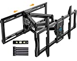 Full Motion Articulating TV Mount for 37-80' Flat/Curve TVs with Max VESA 600x400mm Sliding TV Wall Mount for TV Centering Swivel Rotate Extend Tilting TV Bracket Fits 24' Studs Hold TV up to 132 lbs