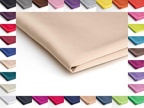 Stoff Satin Dick glänzend Dehnbar - Erhältlich in verschiedenen Farben - 50 x 150cm (Hel Ohne Nr 6)