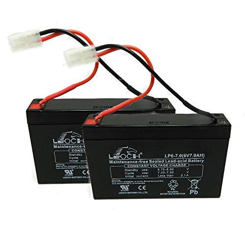 2 x Microcat Bait Boat Batteries 6 Volt 7AH with Leads