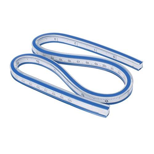 MSEKKO Regla de Curva Flexible Redacción Herramienta de Dibujo Vinilo de plástico 30 cm 40 cm 50 cm 60 cm