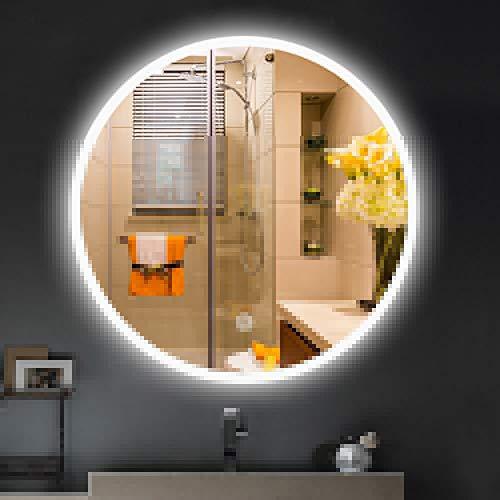 Badkamer Slimme Spiegel, LED Ronde Spiegel Met Licht, Dimbaar Grote Wandmontage Spiegel Met Touch Schakelaar