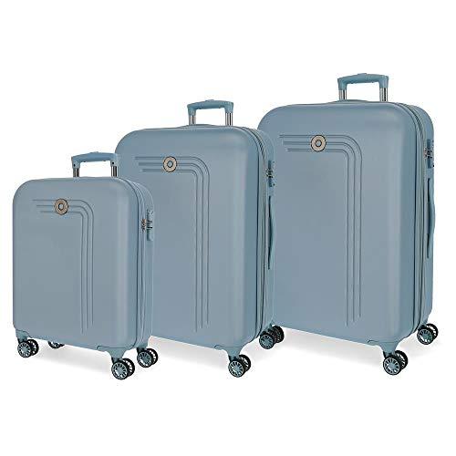 Movon koffer Riga harde schaal 55-70-80cm lichtblauw