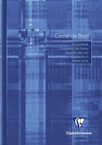 Clairefontaine 35499C Takenboek (DIN A5, 24 vellen, 90 g) 1 stuk Blauw