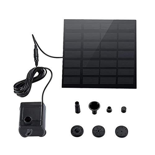Panel solar bomba de agua accionada Fuente 180L / H sumergibles Pond...