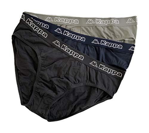 Kappa Lot de 3 slips pour homme en coton bi-élastique Promo disponible - - XL