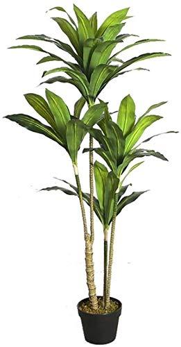 vfrt Decoration Fake Tree Artificial Plants,Simulation Rich Tree,Artificial Trees,Simulation Plant Bonsai Living Room Bedroom Lobby (Size : 125cm)