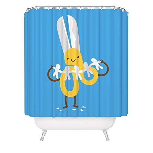 Thomas655 Leuke Kinder Douchegordijn Schaar Badkuip Gordijn Met Haken Grappige Whimsical Badkamer Gordijn Joke Humor Wetroom Decor