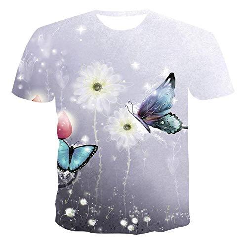 chuyue Camiseta con Estampado 3D para Hombre y Mujer Camiseta de Secado rápido con EstampadoAnimal de Hip Hop-S