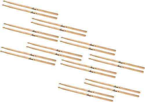 XDrum baquetas de batería 7A Wood Tip 10 pares