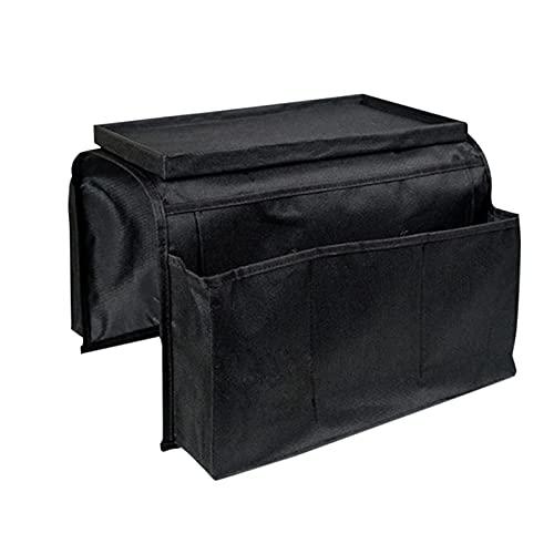 HAITX Organizador de reposabrazos para sofá con 5 bolsillos para portavasos, bandeja para sofá, sillón y bolsa de almacenamiento para TV Control remoto teléfono móvil