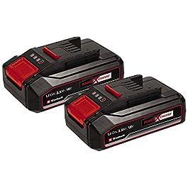 Original Einhell Système à double batterie 2,5Ah Twinpack PowerX-Change (Li-Ion, 18V, 2x 2,5Ah, compatible avec appareils PXC, système gestion batterie proactif, cycles charge adaptés à l'état)