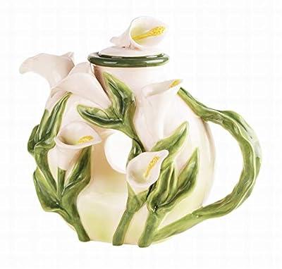 Blue Sky Ceramics Calla Lily Teapot, Black