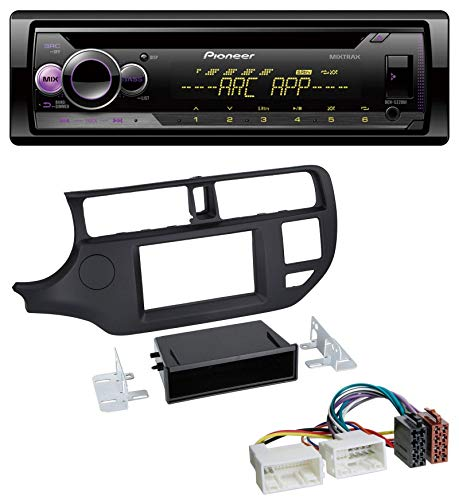caraudio24 Pioneer DEH-S220UI 1DIN MP3 AUX USB CD Autoradio für Kia Rio (UB 2011-2014) schwarz