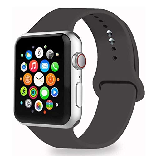MAPPE Cinturino in Silicone per Cinturino Apple Watch 38Mm 42Mm per Cinturino Iwatch 44Mm 40Mm Cinturino Sportivo Cinturino Correa per Apple Watch 5 4 3 2 1 Accessori, Cacao, 38Mm 40Mm Ml