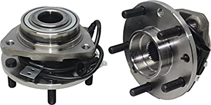 Detroit Axle - 4WD Front Wheel Hub and Bearing Assembly Set 5 Lug W/ABS for [97-05 Blazer 4x4] [97-04 S10 4x4] [97-05 Jimmy 4x4] [97-04 Sonoma 4x4] - 513124