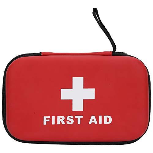 Yencoly Bolsa vacía de Primeros Auxilios, Organizador de medicamentos vacío, Suministros de Supervivencia portátiles Rojos para la Escuela, el hogar, la Oficina, el Campo de Entrenamiento al Aire