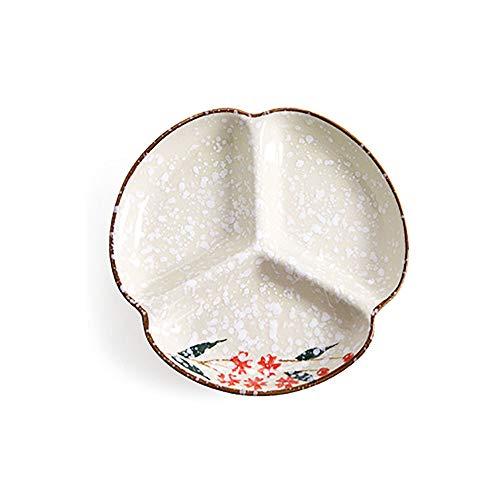 Omenluck 1Pc Ceramic Divider Dinner Plate Fruit And Vegetables Tray Dish Household Tableware