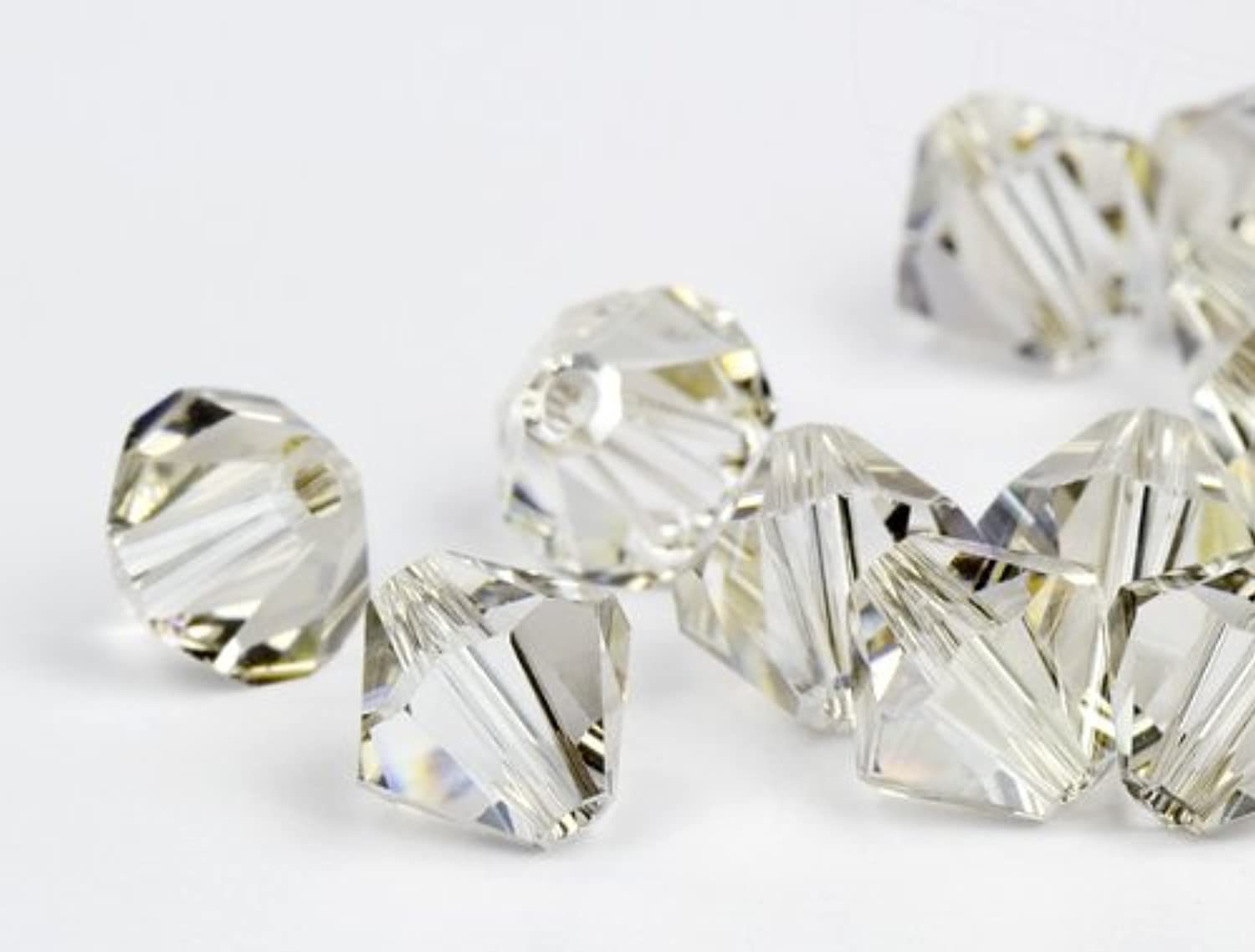 Glass Beads of Swarovski Elements Bicone 3mm (Crystal-Silver Shade), 1440 Pieces (10 Gross)