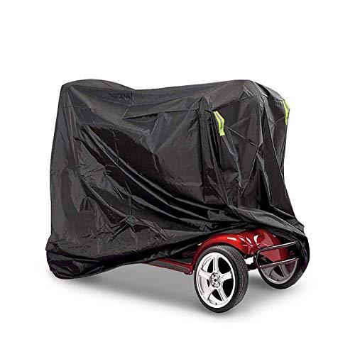 ZHSX Elektromobil Scooter Abdeckung wasserdichte, Regenschutz für Rollstuhl Schutzbezug, Winterfest Staubdicht Abdeckplane passt am meisten Mobility Scooter - 145 * 140 * 48CM, Schwarz