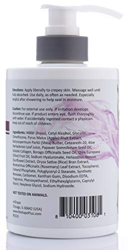 41bygUfMbuL - Crepey Skin Treatment Cream Wrinkle Smoothing cream w/Collagen, Hyaluronic Acid. Hydrating Cream Improves Elasticity, Plumps Sagging Skin. For Body, Neck, Hands, Face. Fragrance-Free by Reshape 15 oz