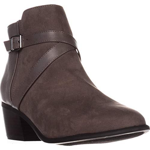 Price comparison product image KS35 Falonn Block Heel Ankle Boots,  Dark Grey,  5.5 US