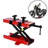 NOBGP Motorcycle Lift Table, Bike Stand Center Adjustable Jack, 1100 lbs Scissor Jack Profile Floor Scooter...
