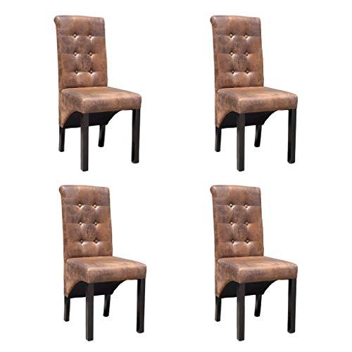 vidaXL 4X Stuhl Kunstleder Esszimmerstuhl Stuhlgruppe Küchenstuhl Essstuhl