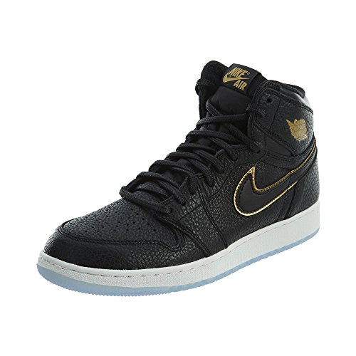 Nike Air Jordan 1 Retro High Og Bg - black/metallic gold-summit whi, Größe:3.5Y
